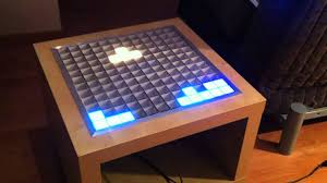 Interactive Coffee Table Interactive Rgb Led Table From Ikea Lack Side Table Youtube