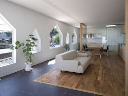 office floor design. cozy house jigozen suppose design office open floor plan with wooden island and black stools near