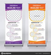 Sample Pull Up Banner Designs Roll Banner Design Template Abstract Background Pull Design