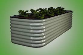 raised bed vegetable gardening square slim