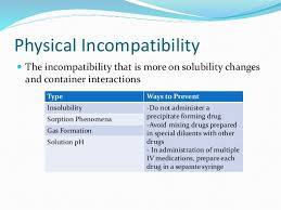 Iv Drug Incompatibilities
