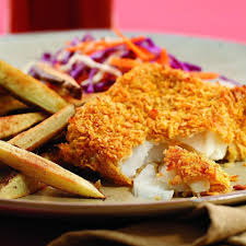 oven fried fish chips