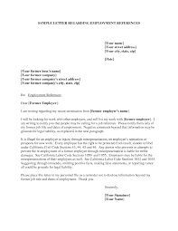 Free Reference Letter Sample Examples Of Reference Letters EmploymentExamples Of Reference 19