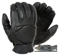 responder leather gloves with reinforced palms full finger