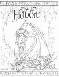 Hobbit clipart coloring page 52