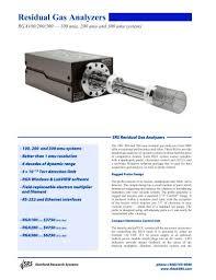 Rga Amu Chart Rgaresidual Gas Analyzers Stanford Research Systems Pdf