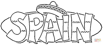 Small Picture Sombrero on the Spain coloring page Free Printable Coloring Pages