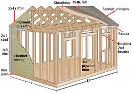 gable shed construction diagram