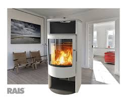 Rais Malta in White - wood stove - 27,000 peak btu/hr