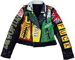 <b>Leather</b> Jacket Women Rock Motor Biker <b>2021 New</b> Studded Punk ...
