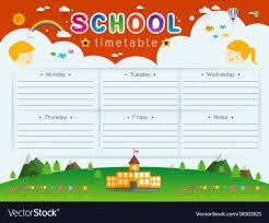 Graphic Design Timetable School Timetable
