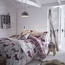 grampian stag brushed cotton flannelette bedding single double king throw pillowcases free delivery over 30 on all uk orders