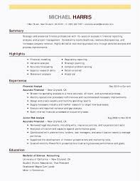 Technical Skills In Resume For Financialyst Functional