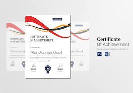 Corporate Certificate Template Achievement Corporate Certificate Template