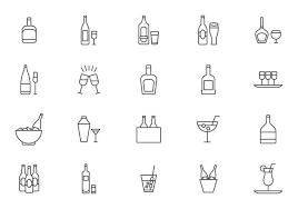 カクテルとスプリッツベクター画像素材無料ダウンロード美麗デザイン