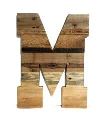 rustic wooden letters large