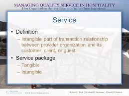 Customer Service Experience Definition The Hospitality Service Strategy Ppt Video Online Download