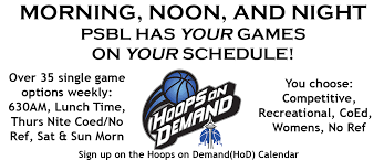 How To Make A League Schedule Puget Sound Basketball League Washington States Largest