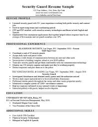 Security Guard Resume Examples Security Guard Resume Sample Writing Tips Resume Companion