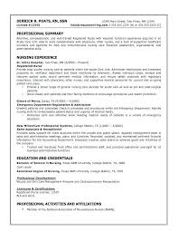 Sample Resumes For Nurses