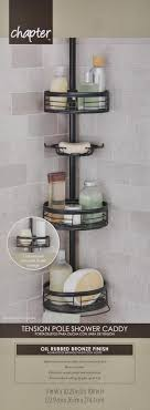 tension pole caddy corner shower holder home zenith 3 shelf oil rubbed bronze 43197136350