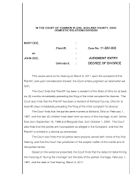 Examples Of Divorce Papers Best Photos Of Examples Of Divorces Sample Divorce Agreement 17