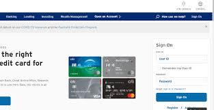 citi bank credit card apply at