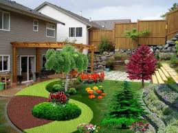 Beautiful And Clement Home Garden Decoration Ideas With Beautiful  Landscaping Small Backyard Sloping Garden Design Likable Landscaping  Inspiration Exciting ...