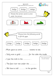 Showing 8 worksheets for consonant dge. Dge Words Letters And Sounds By Urbrainy Com