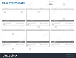 Professional Storyboard Storyboard Template Film Story Stock Vector ...