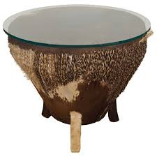african drum coffee table for