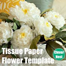 clever nest painted tissue flowers printable template