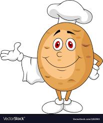 cute potato cartoon. Beautiful Cute Cute Potato Chef Cartoon Character Vector Image To Potato Cartoon
