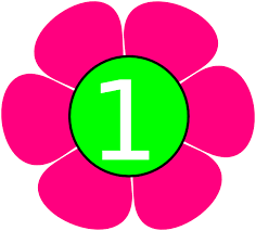Pink Number 1 Clipart - Clip Art Bay