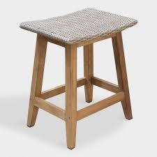 outdoor counter height stools. Teak Wood Nash Outdoor Counter Height Stools Set Of 2 H