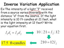 20 inverse variation