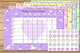 kids behavior chart unicorn chore chart chore chart reward chart chore chores weekly chore chart kids chore chart toddler chore chart unicorn