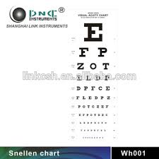 Wh001 Ophthalmic Instrument Visual Acuity Eye Chart View Visual Acuity Eye Chart Link Product Details From Shanghai Link Instruments Co Ltd On