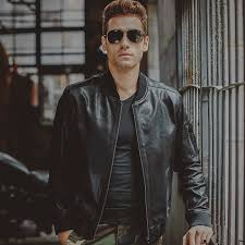 consider wearing a black leather er jacket and t shirt for a trendy and easy going look leather er jackets are a piece that you need to have in your