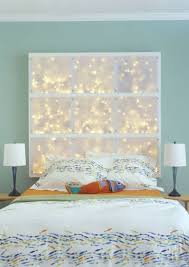 cheap diy bedroom decorating ideas. Modren Decorating DIY LED Headboard  String Lights To Decorate Your Rooms Projects Inside Cheap Diy Bedroom Decorating Ideas A