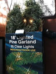 Garland Red Light Camera Ticket New Lighted Holiday Pine Green Garland With 35 Clear Lights 18 Long