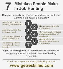 How To Change Career 7 Mistakes Of Career Change Job Hunting Getreskilled