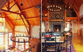 Interiors  Timber Frame Mountain Home TruexCullins Architecture - Mountain home interiors