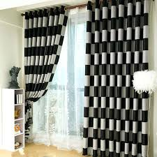 Black living room curtains Dark The Latest Style Curtains Black And White Grid Modern Living Room Double Sided Printing Blackout Curtain Ikeke Black Living Room Curtains Ikeke