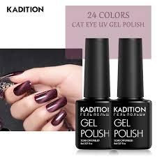 kadition 8ml magnetic 3d cat eye nail gel polish uv led magnet base top coat gel lacquer art soak off long lasting varnish gel nail art gelous nail gel from