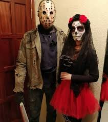 Awesome Nice Skull Couple Costume For Halloween Party. Pic By Marta_tm92
