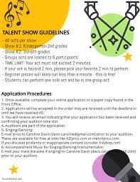 Talent Show Poster Designs 181002 Talent Show Poster 1 Ocean Air School Pta