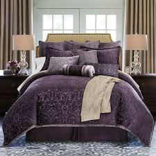 purple bed comforters