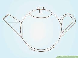 teacup and teapot drawing. Wonderful Teapot Image Titled Draw A Teapot Step 5 With Teacup And Drawing P