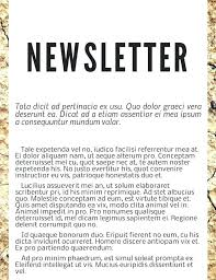 Newspaper Advertising Contract Template Free Newsletter Templates Examples Sample Newspaper